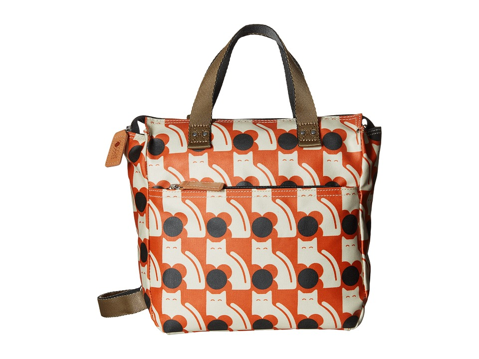 Orla Kiely - Poppy Cat Print Small Backpack (Persimmon) Backpack Bags