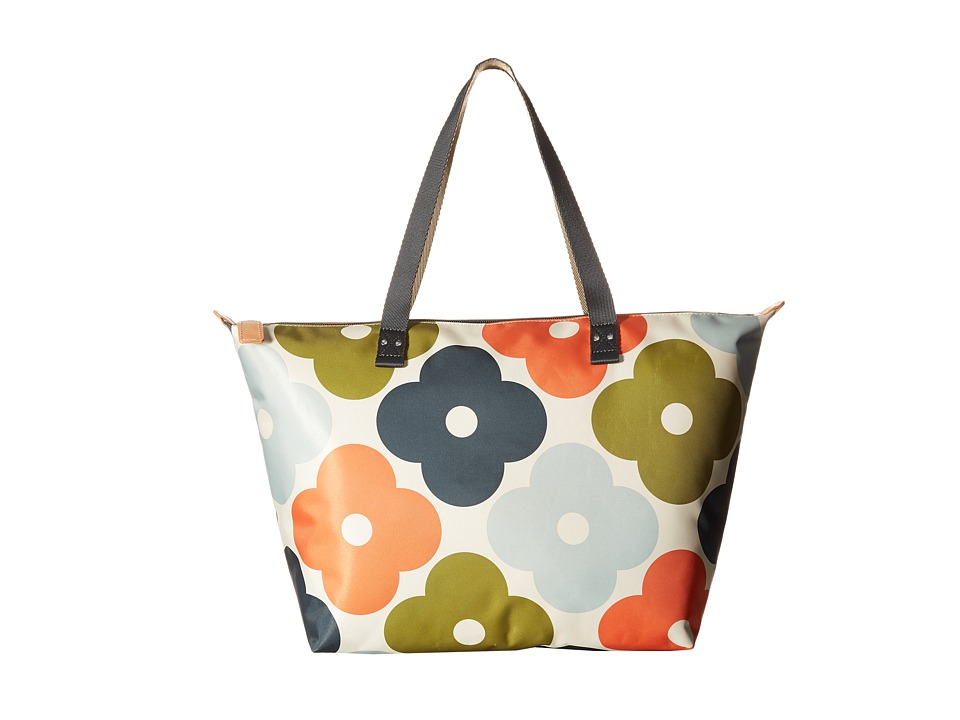 Orla Kiely - Giant Flower Spot Print Zip Shopper (Multi) Tote Handbags