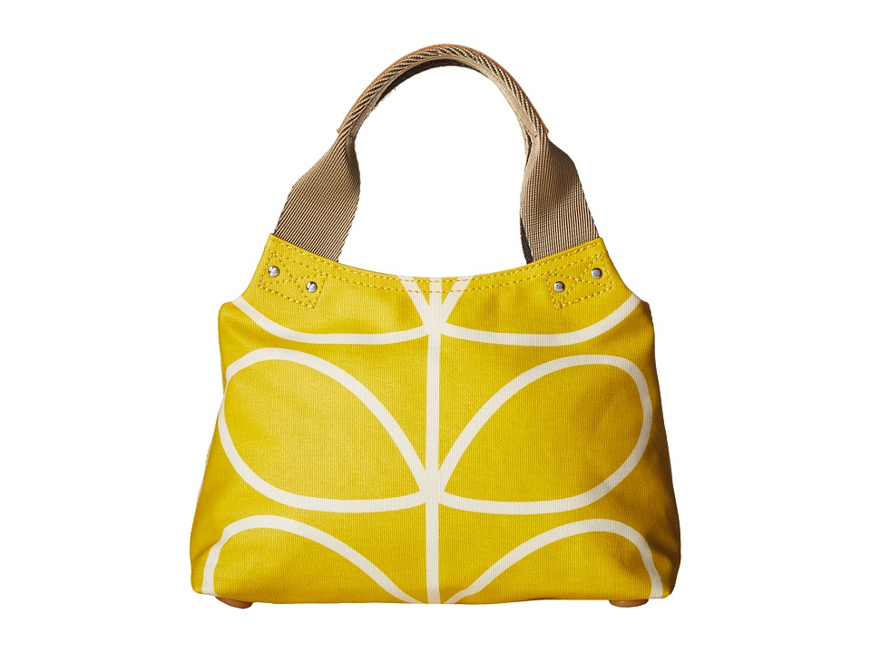 Orla Kiely - Giant Linear Stem Small Classic Zip Shopper (Dandelion) Tote Handbags