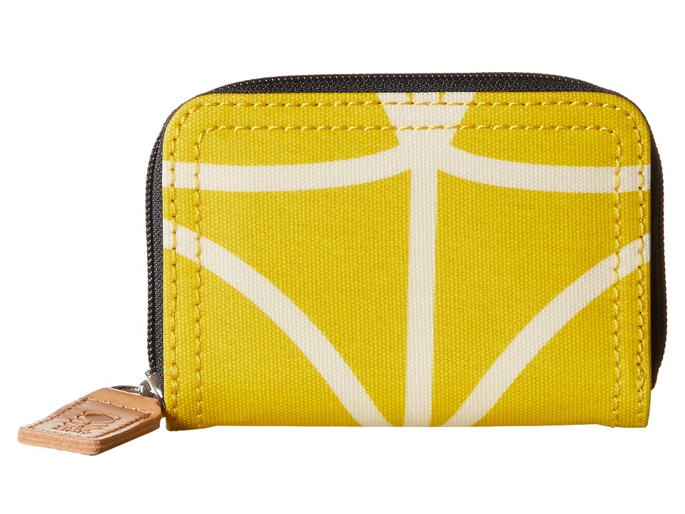 Orla Kiely - Giant Linear Stem Small Medium Zip Wallet (Dandelion) Wallet Handbags