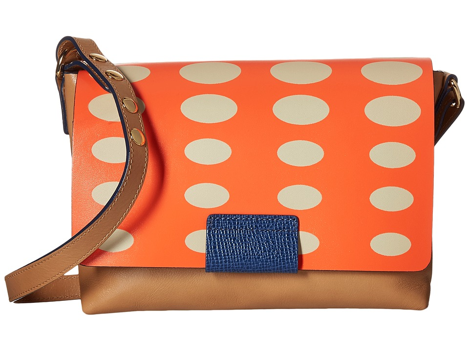 Orla Kiely - Oval Printed Robin Bag (Orange) Bags