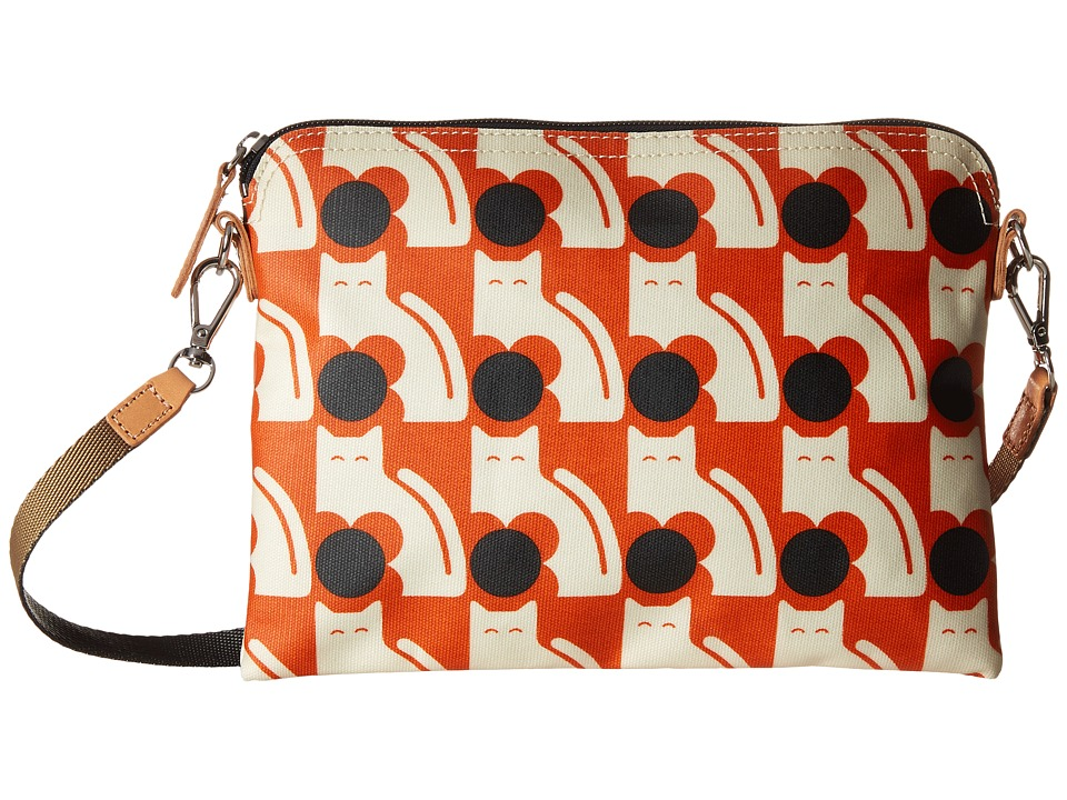 Orla Kiely - Poppy Cat Print Travel Pouch (Persimmon) Travel Pouch