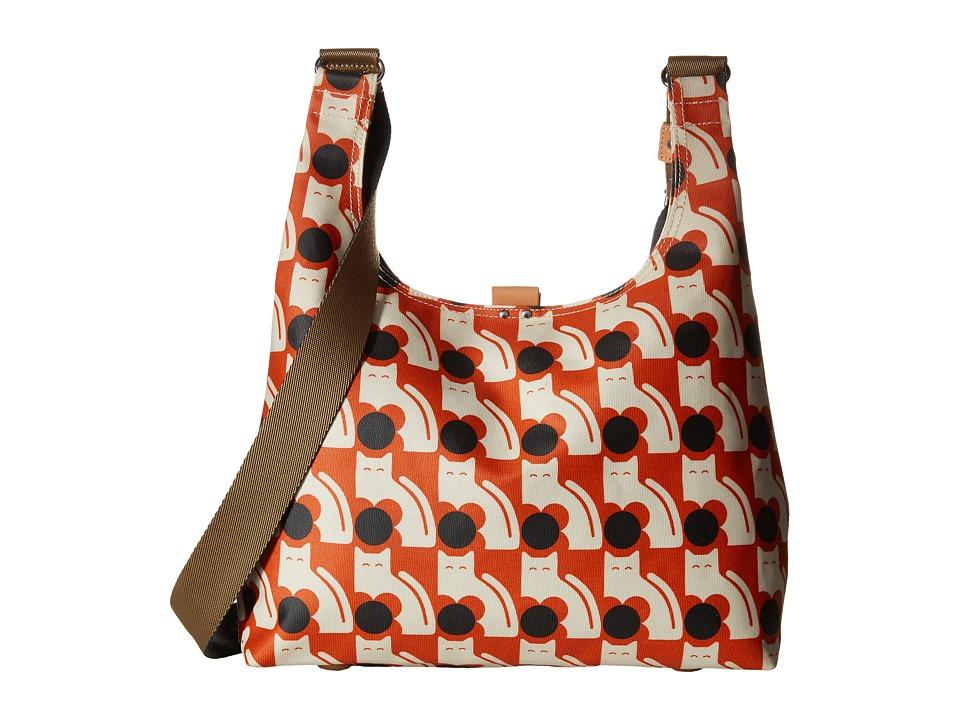 Orla Kiely - Poppy Cat Print Midi Sling (Persimmon) Sling Handbags