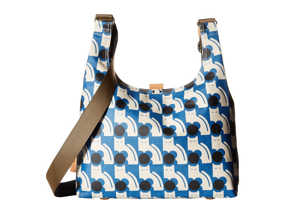 Orla Kiely - Poppy Cat Print Midi Sling (Powder Blue) Sling Handbags