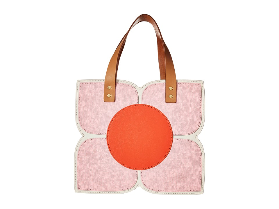 Orla Kiely - Square Flower Applique Handbag (Cream) Handbags