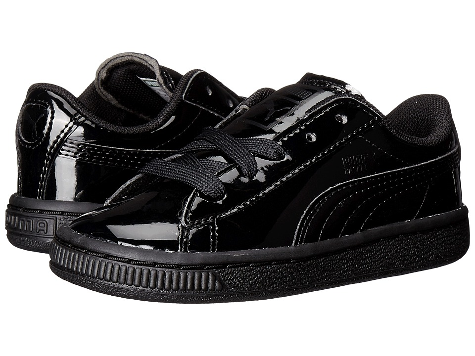Puma Kids - Basket Classic Patent Inf (Toddler) (Puma Black/Puma Black) Kids Shoes