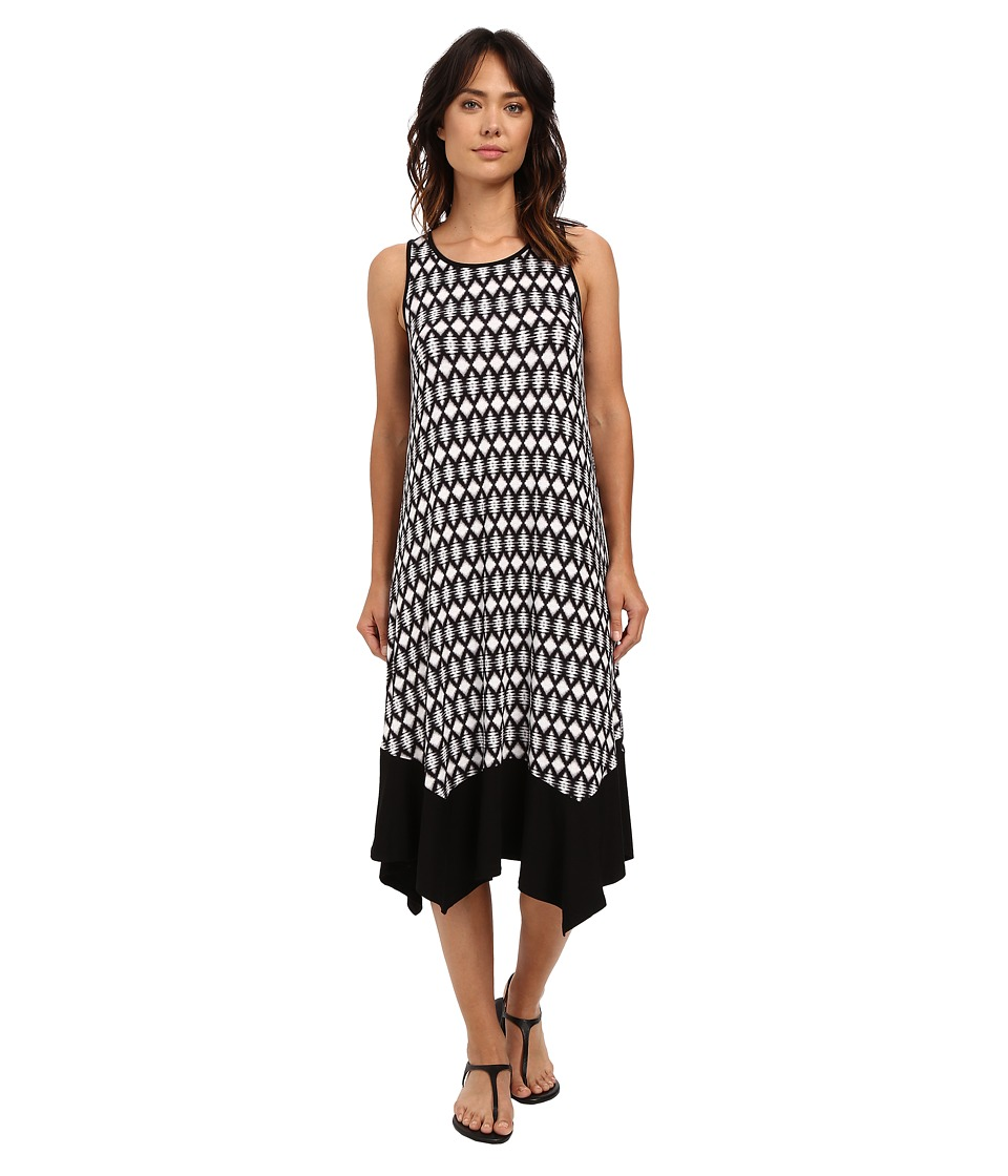 kensie Aztec Diamonds Dress KS6K7527 (Black Combo) Women