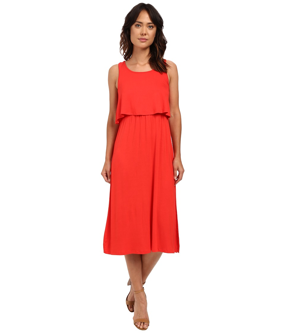 kensie Lightweight Viscose Spandex Dress KS6K7521 (Salsa) Women