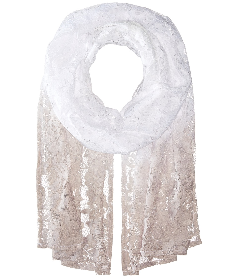 Betsey Johnson - Ombre Lace Wrap (Grey) Scarves