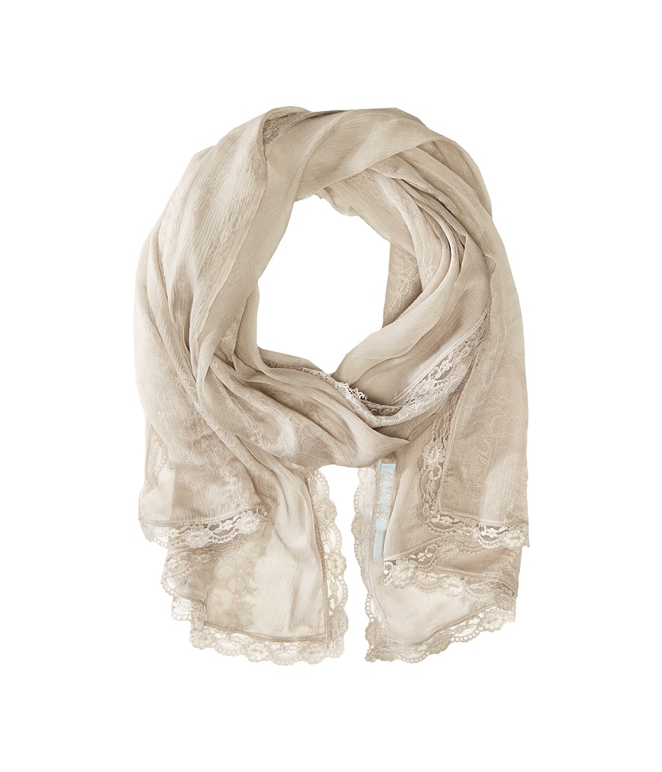Betsey Johnson - Precious Lace Wrap (Stone) Scarves