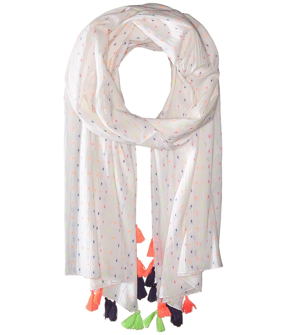 Betsey Johnson - Party Dobby Wrap (White) Scarves