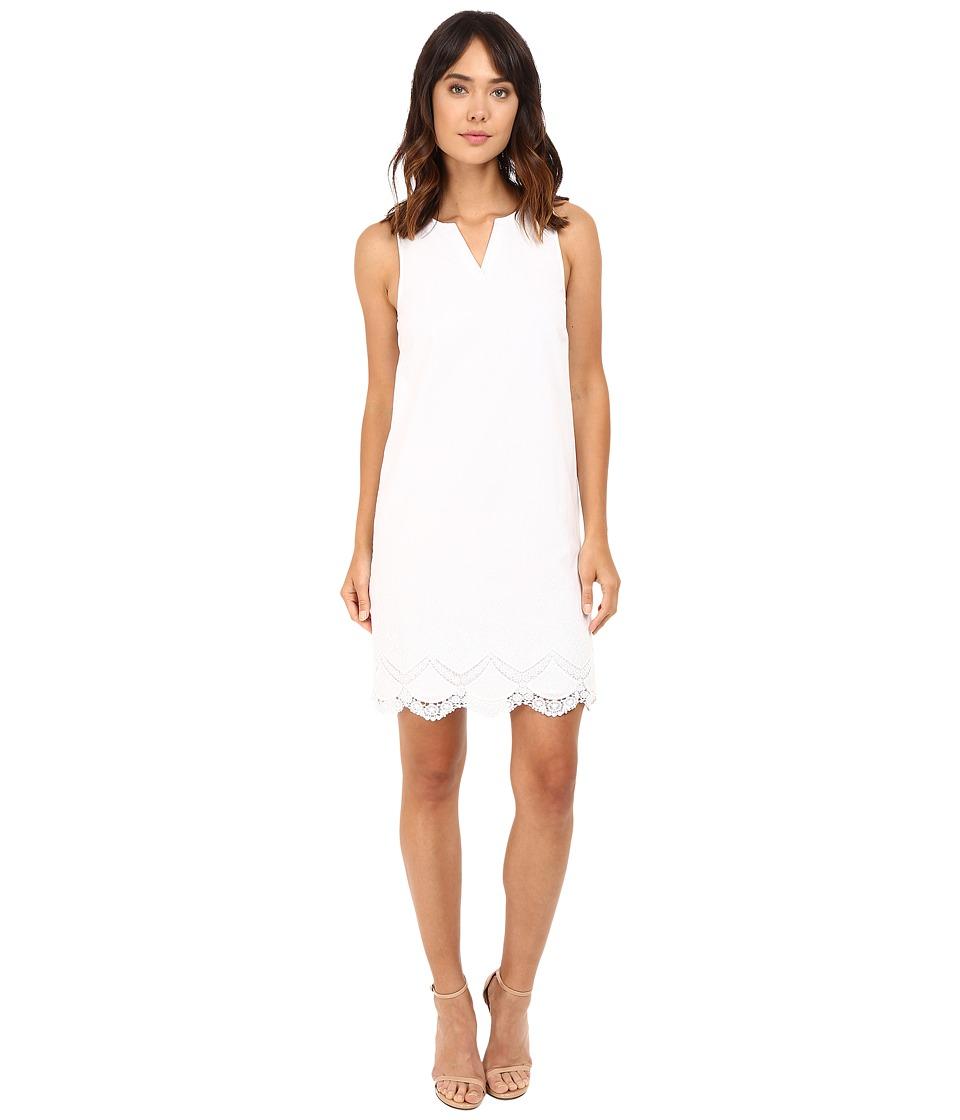 kensie Crochet Embroidered Cotton Dress KS7K7678 (White) Women