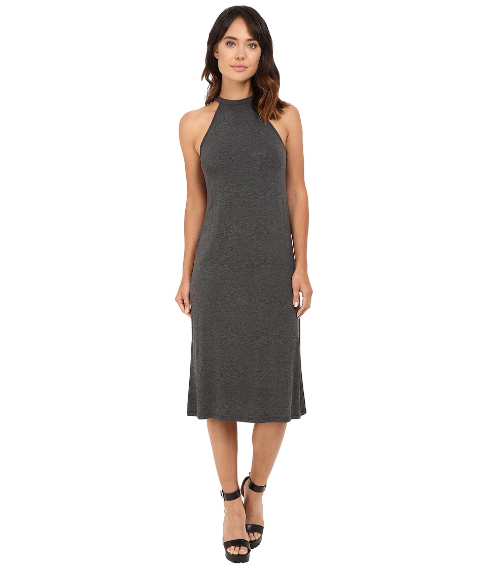 kensie Lightweight Viscose Spandex Dress KS7K7114 (Heather Dark Grey) Women