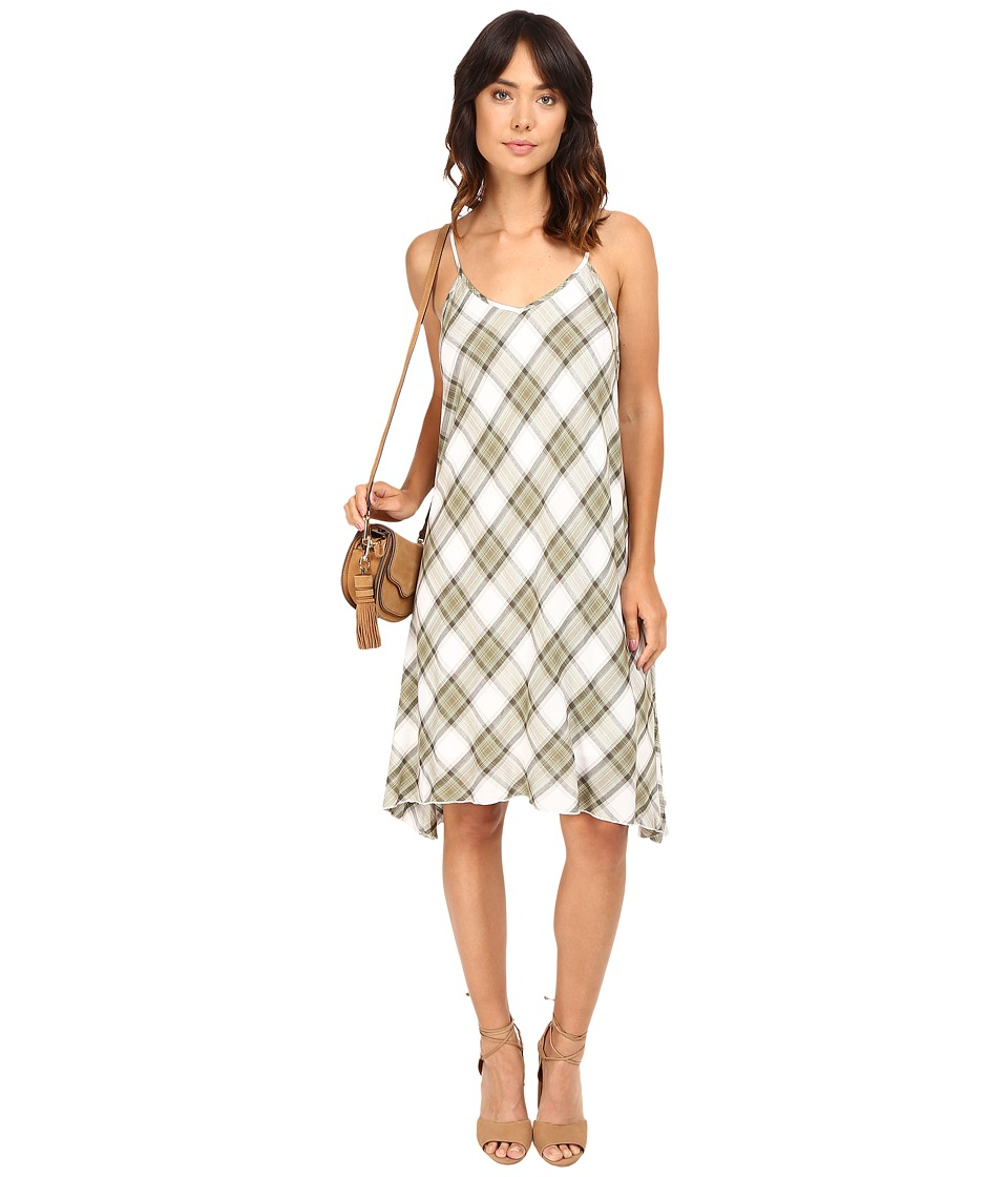 kensie Rayon Plaid Dress KS7K7110 (Olive Combo) Women