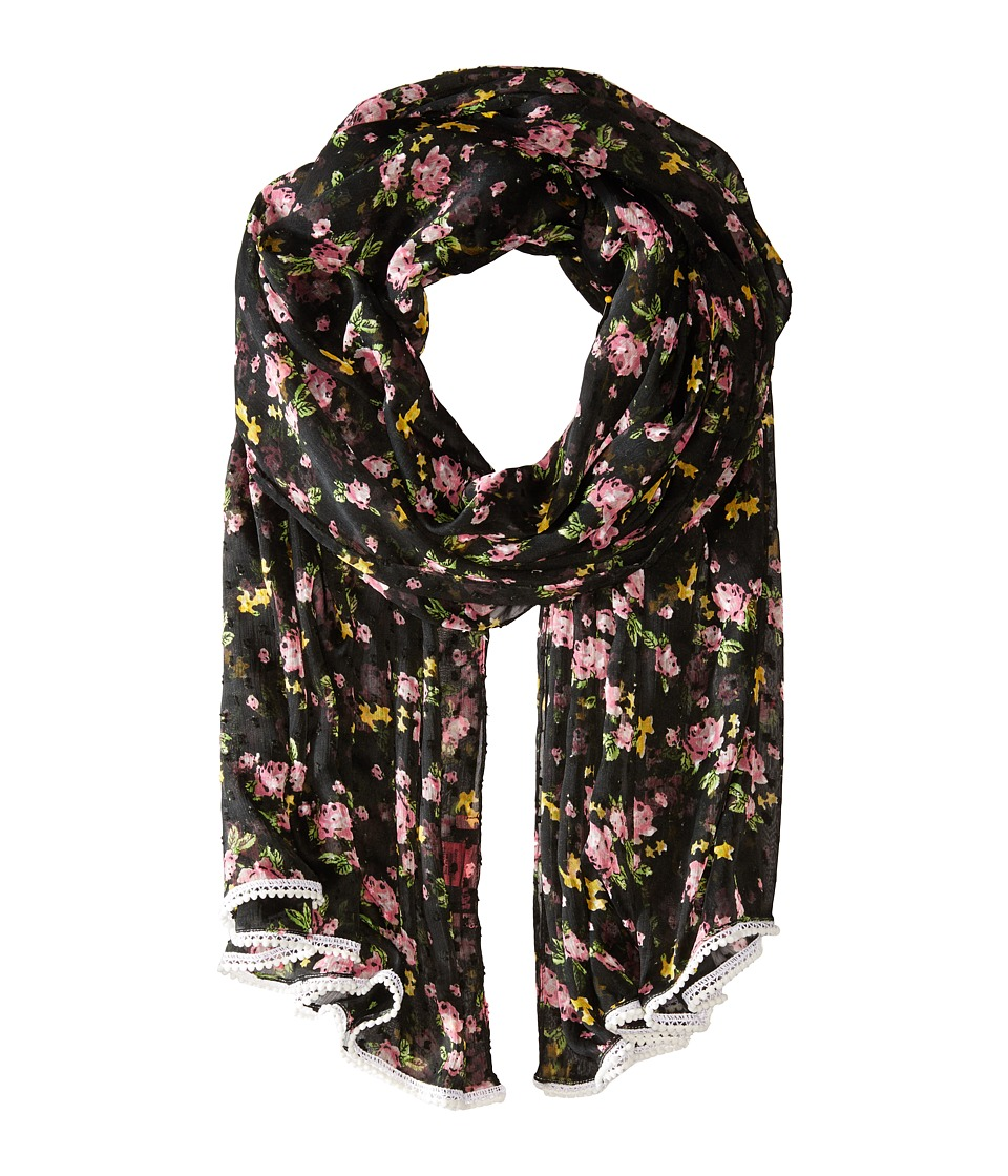 Betsey Johnson - Flower Bomb Wrap (Black) Scarves