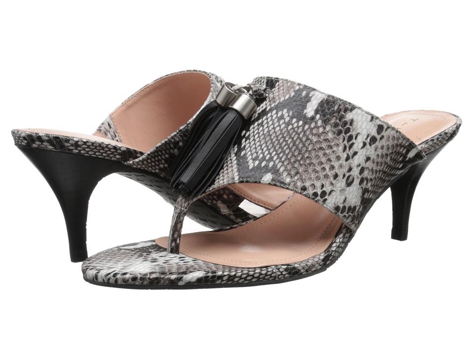 Tahari - Rowan (Black/White/Black Roccia Snake Print) Women's Sandals