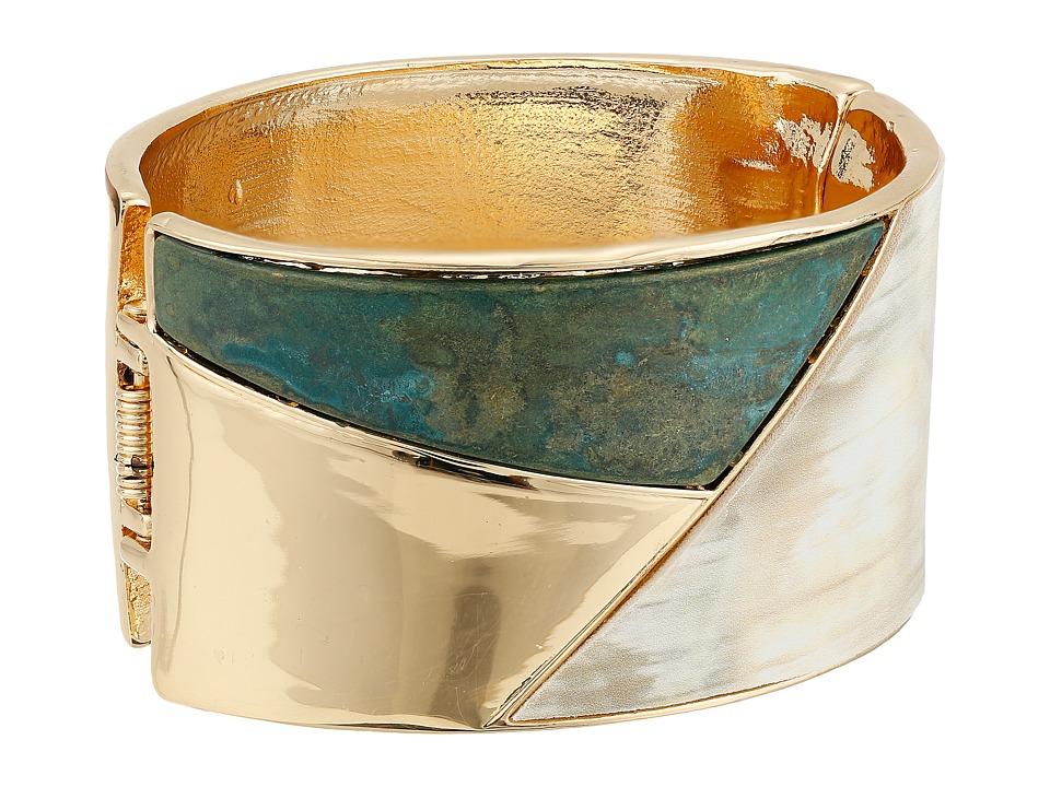 Robert Lee Morris - Patina and Horn Hinge Bangle (Patina/Horn) Bracelet