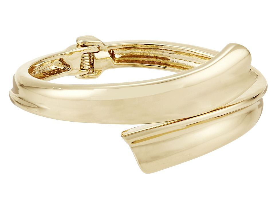 Robert Lee Morris - Gold Bypass Hinge Bangle Bracelet (Gold) Bracelet