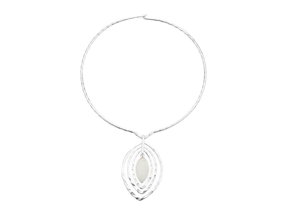Robert Lee Morris - Shell Round Wire Teardrop Pendant Necklace (Natural) Necklace