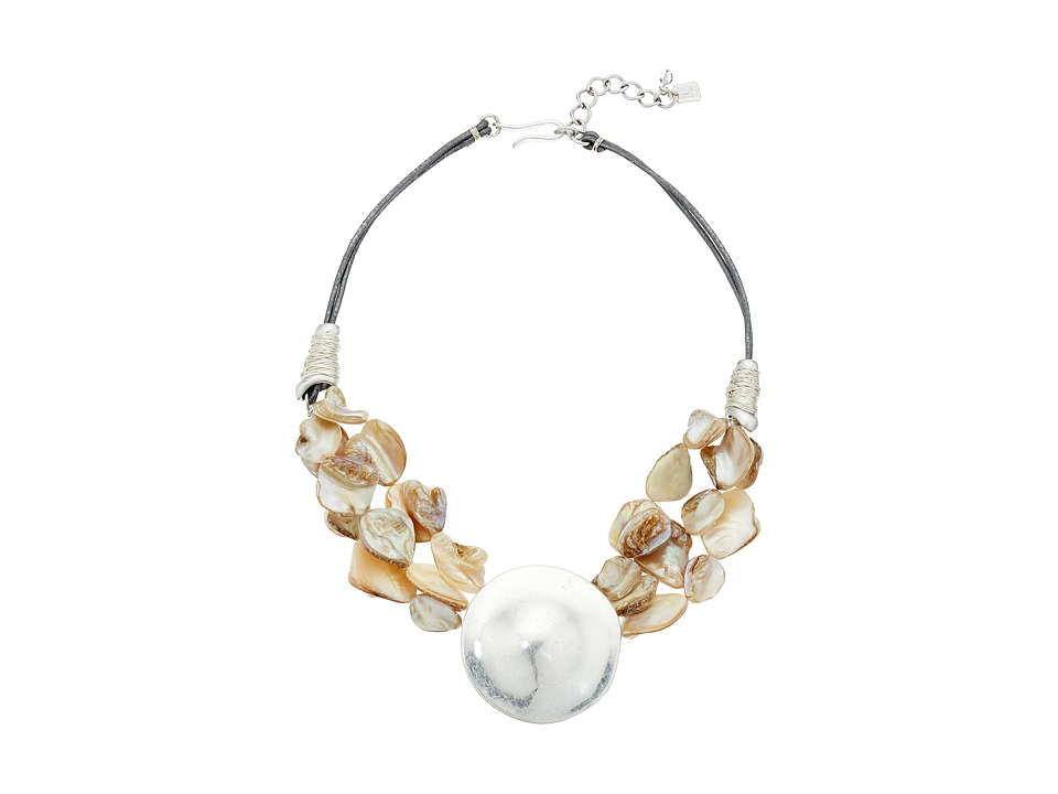 Robert Lee Morris - Shell Pendant Frontal Necklace (Natural) Necklace