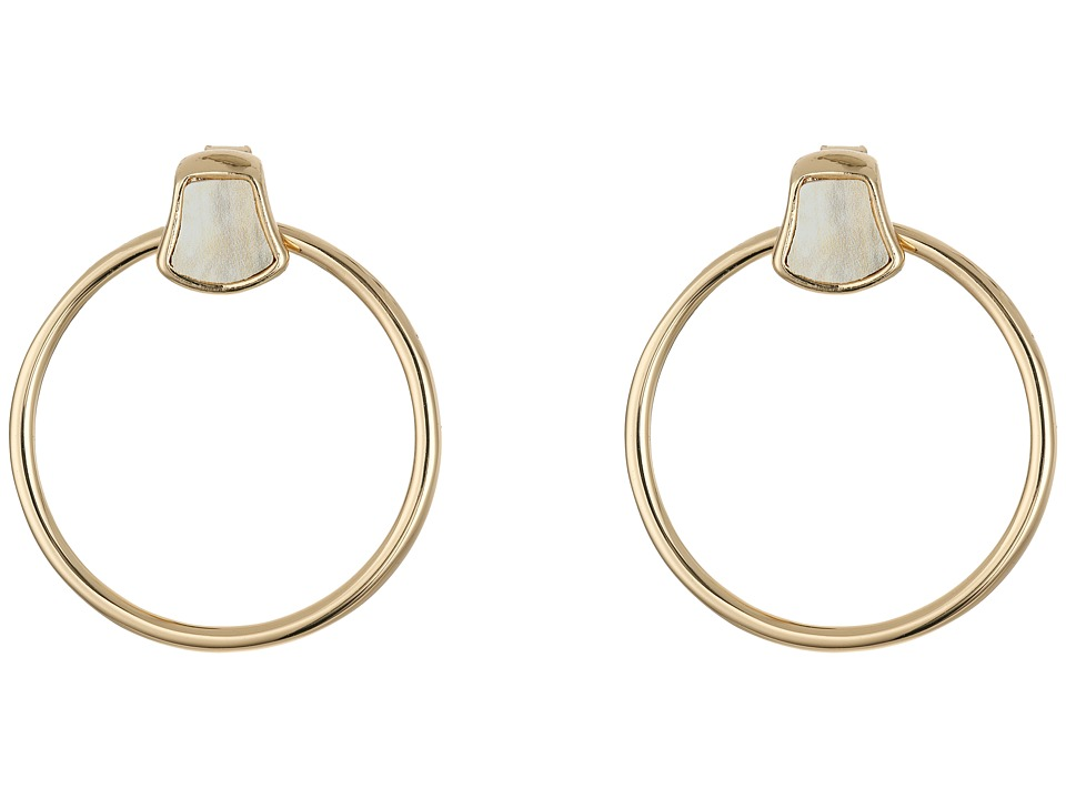 Robert Lee Morris - Horn Accent Gypsy Hoop Earrings (Horn) Earring