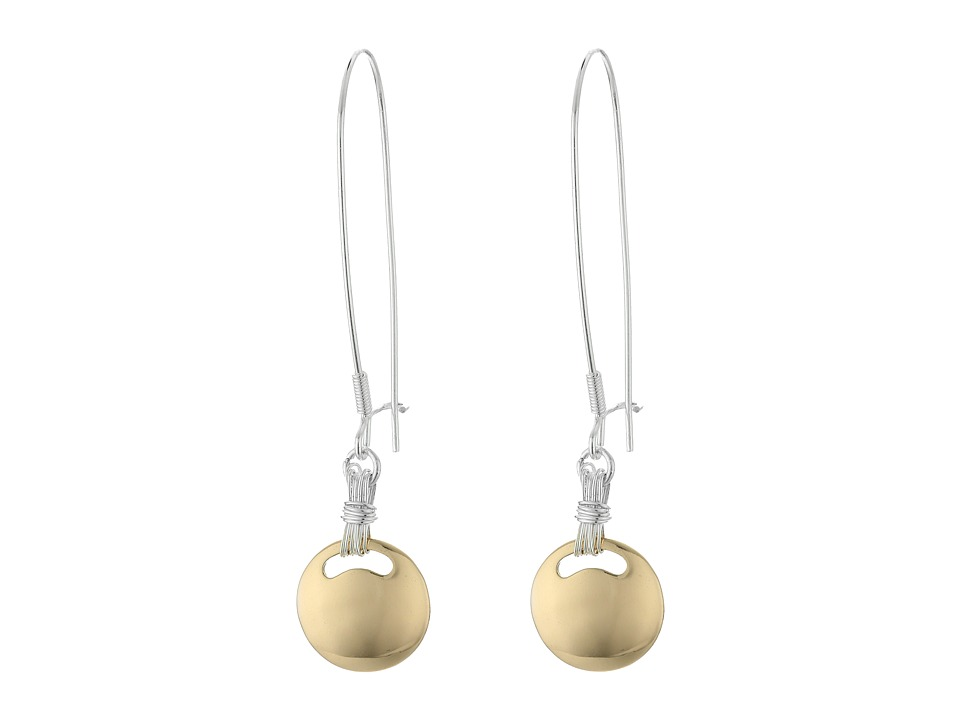 Robert Lee Morris - Two-Tone Circle Shepherd Hook Earrings (Two-Tone) Earring
