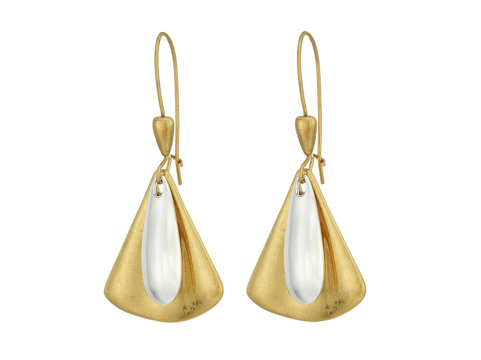 Robert Lee Morris - Triangle Paddle Shepherd Hook Earrings (Two-Tone) Earring