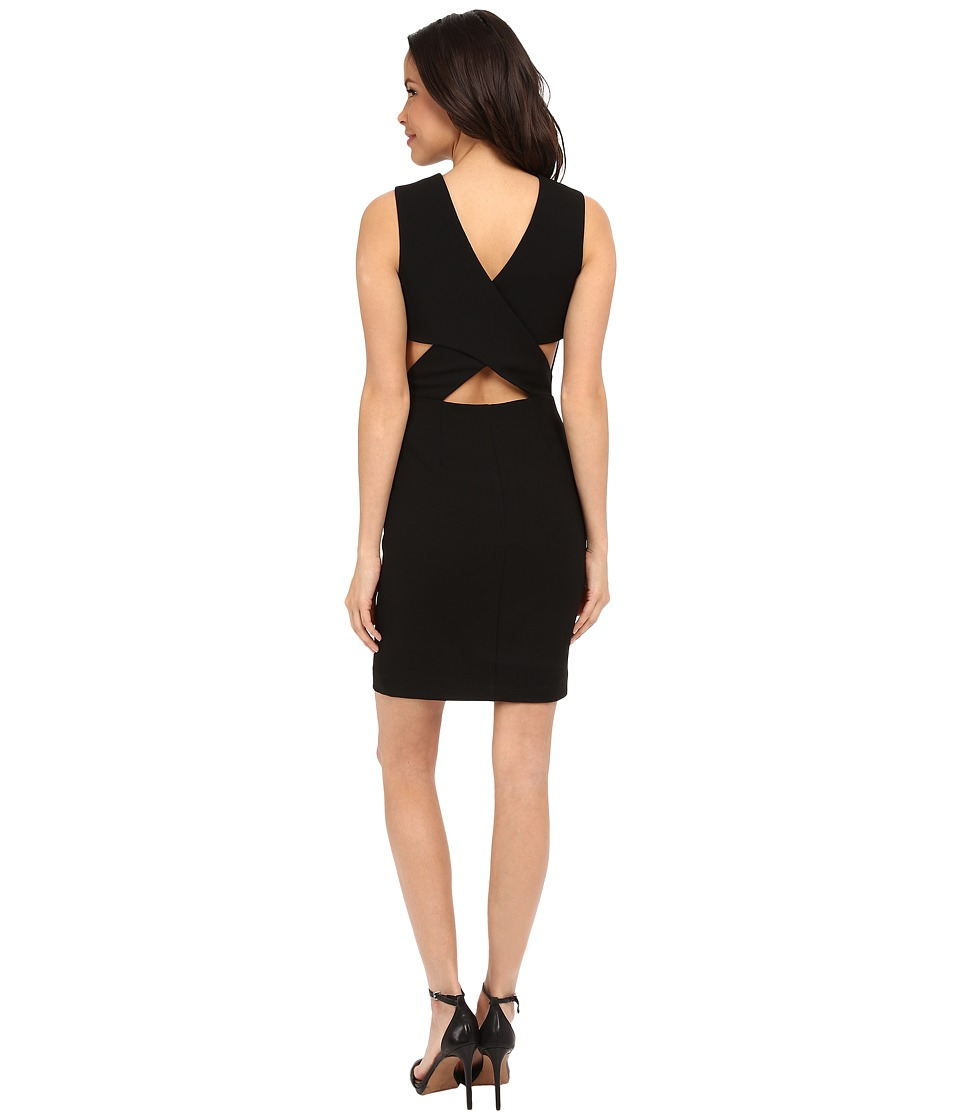 Nicole Miller Emmi Techy Cross Back Dress (Black) Women