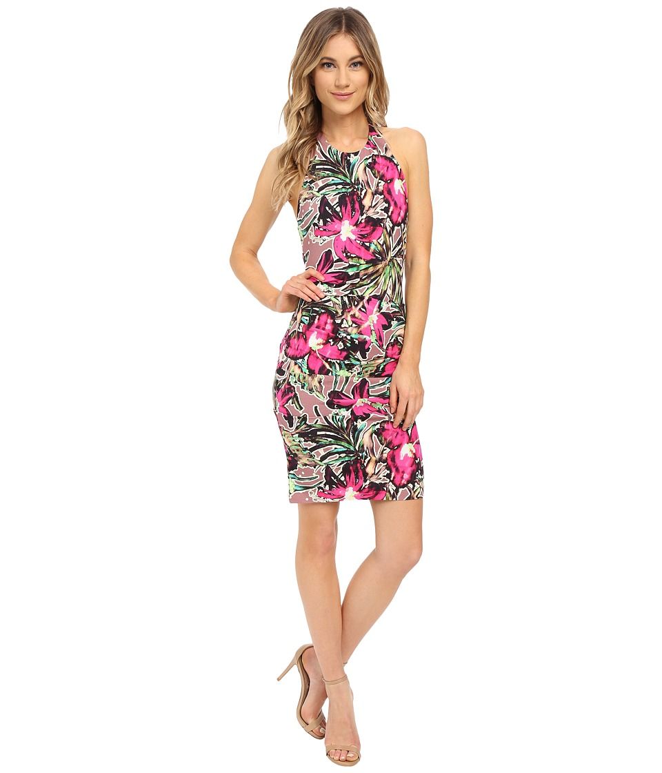 Nicole Miller Batiki Printed Adel Cross Back Dress (Multi) Women