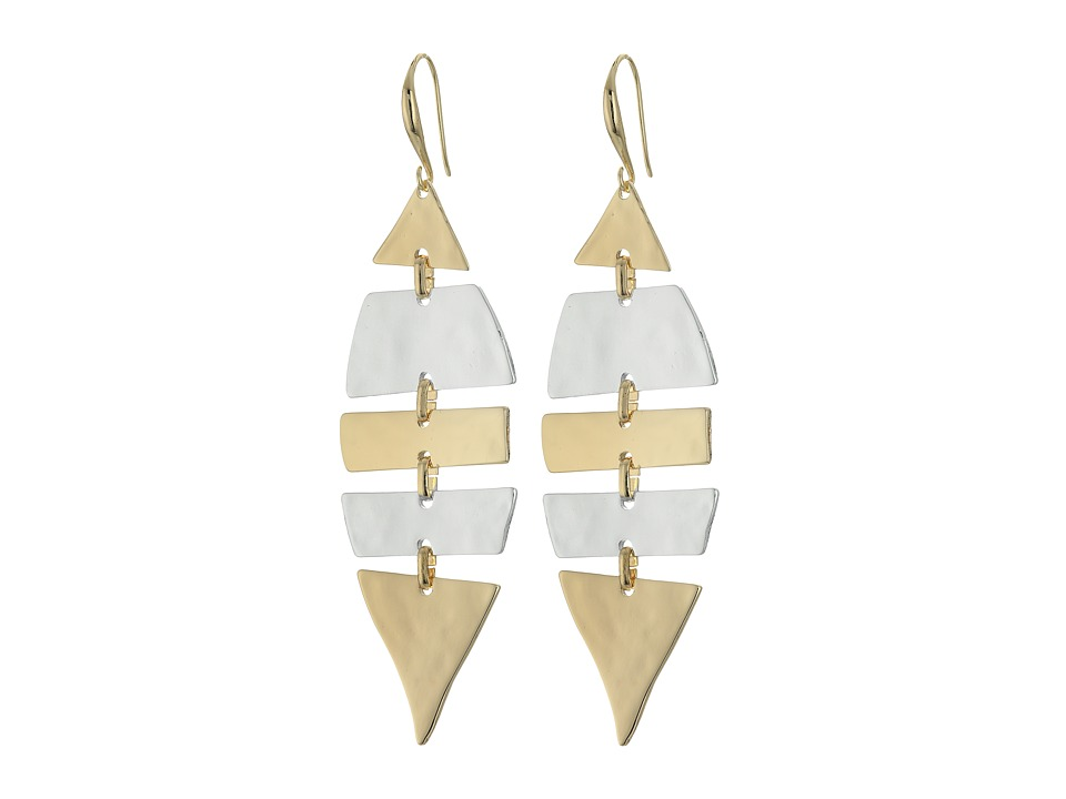 Robert Lee Morris - Two-Tone Shaky Drop Earrings (Two-Tone 2) Earring