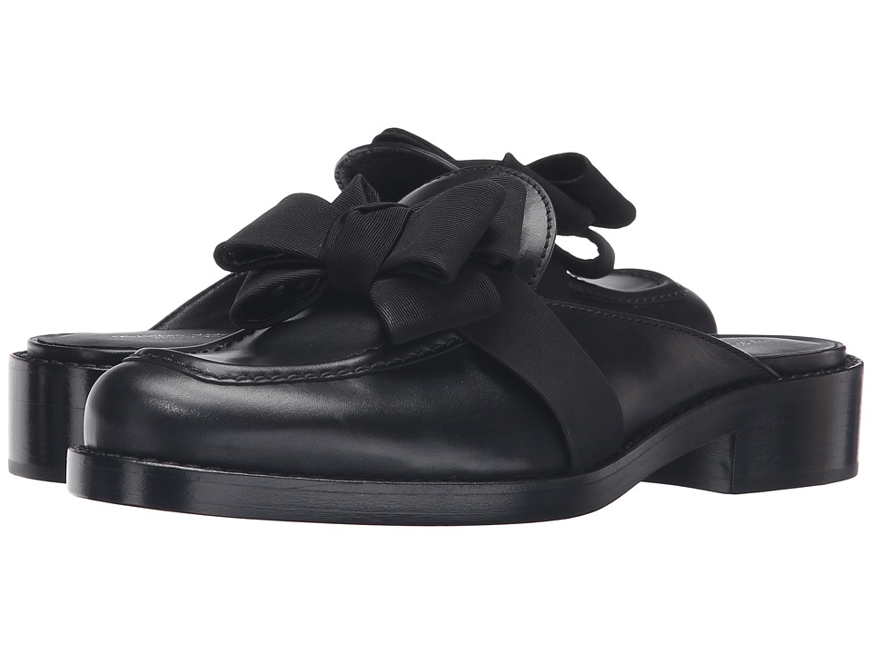 Michael Kors - Suki (Black Smooth Calf/Grosgrain) Women's 1-2 inch heel Shoes