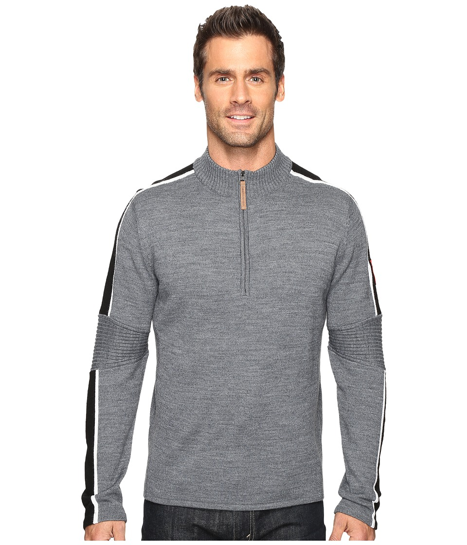 Obermeyer - Vista 1/2 Zip Sweater (Light Heather Grey) Men's Sweater