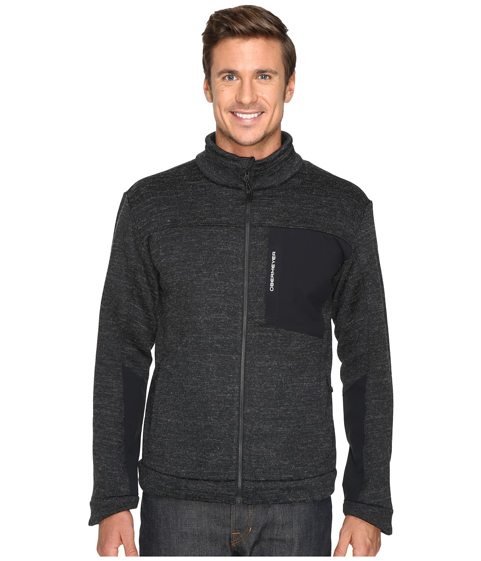 Obermeyer - Gunner Bonded Knit Jacket (Black) Men's Coat