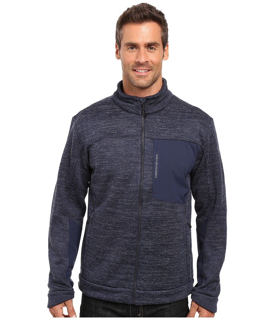 Obermeyer - Gunner Bonded Knit Jacket (Storm Cloud) Men's Coat