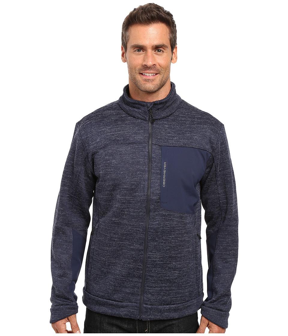 Obermeyer - Gunner Bonded Knit Jacket (Storm Cloud) Men's Coat