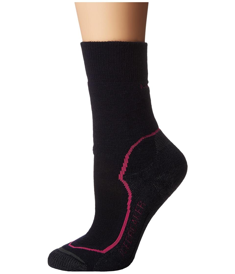 Icebreaker - Hike + Medium Crew 1-Pair Pack (Admiral/Pop Pink/Stealth) Women's Crew Cut Socks Shoes
