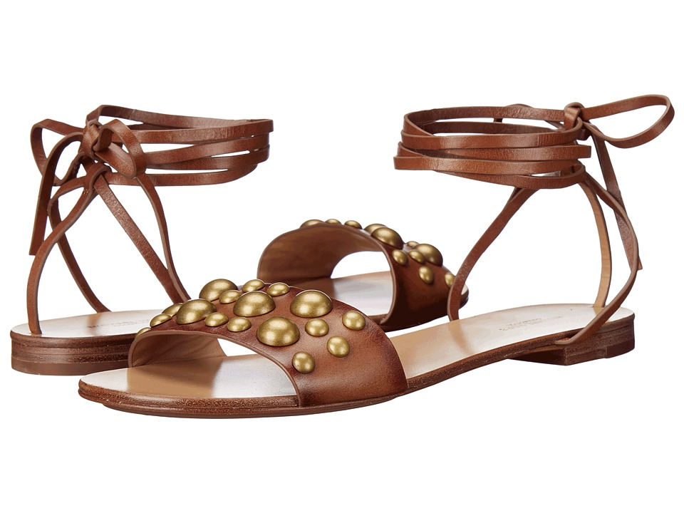 Michael Kors - Mica (Luggage Burnished Vachetta/Studs) Women's Dress Sandals