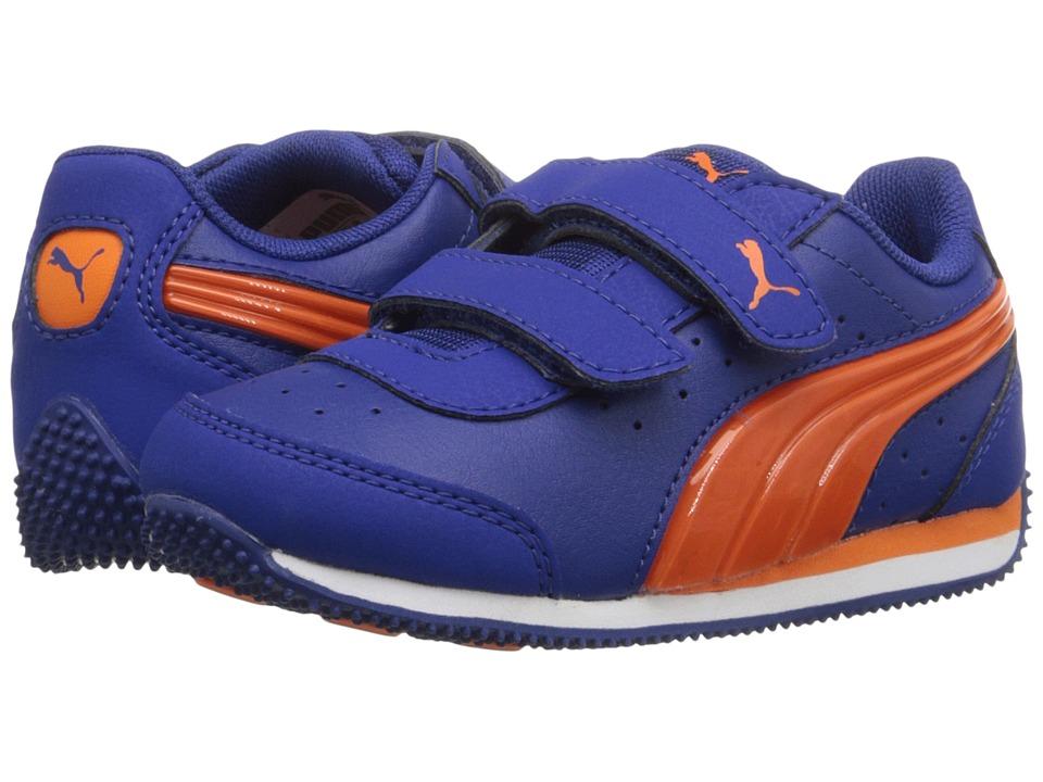 Puma Kids PUMA Speed Light Up V Inf (Toddler) (Mazarine Blue/Vibrant Orange) Boys Shoes