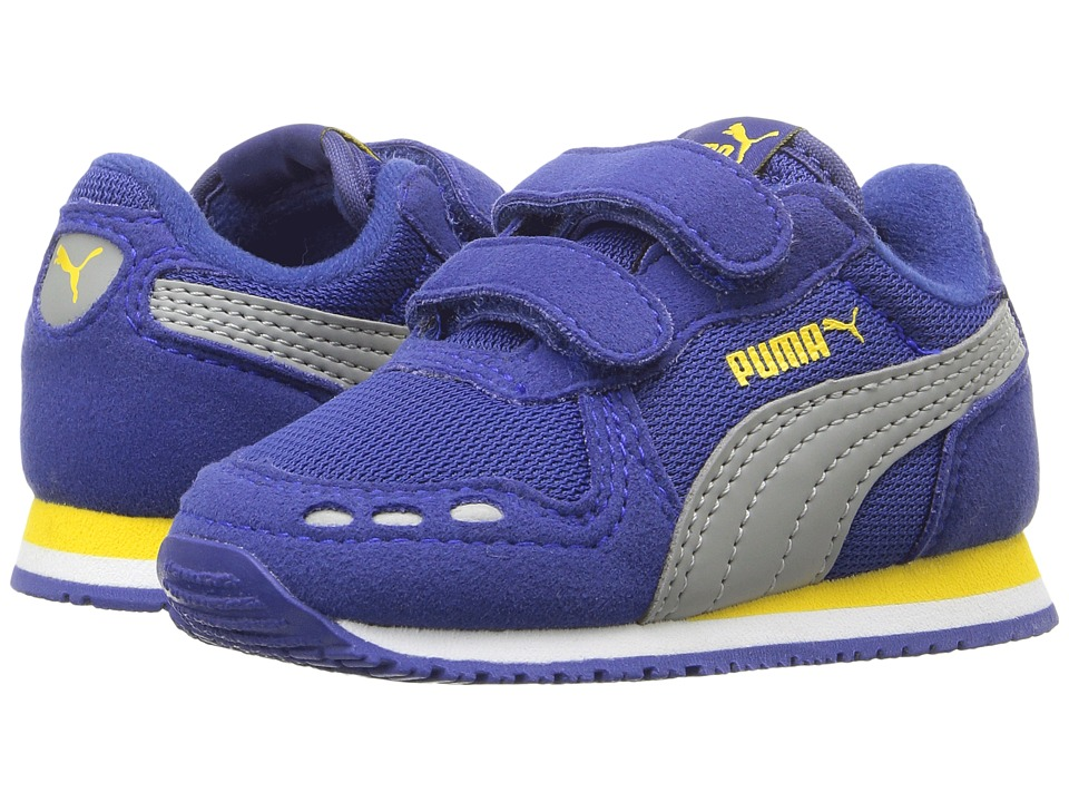 Puma Kids Cabana Racer Mesh V Inf (Toddler) (Mazarine Blue/Limestone) Boys Shoes
