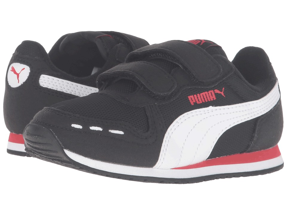 Puma Kids - Cabana Racer Mesh V PS (Little Kid/Big Kid) (Puma Black/Puma White) Boys Shoes