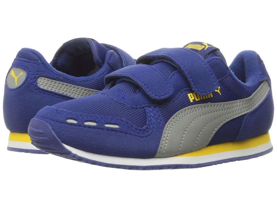 Puma Kids Cabana Racer Mesh V PS (Little Kid/Big Kid) (Mazarine Blue/Limestone) Boys Shoes