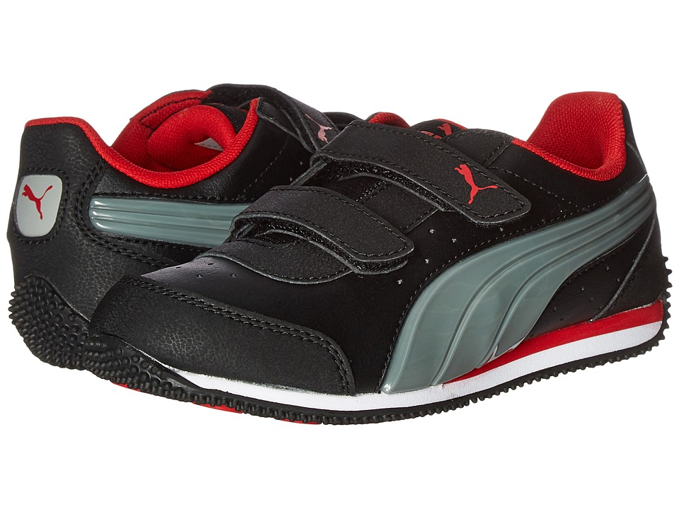 Puma Kids - PUMA Speed Light Up V PS (Little Kid/Big Kid) (Puma Black/Limestone/High Risk Red) Boys Shoes