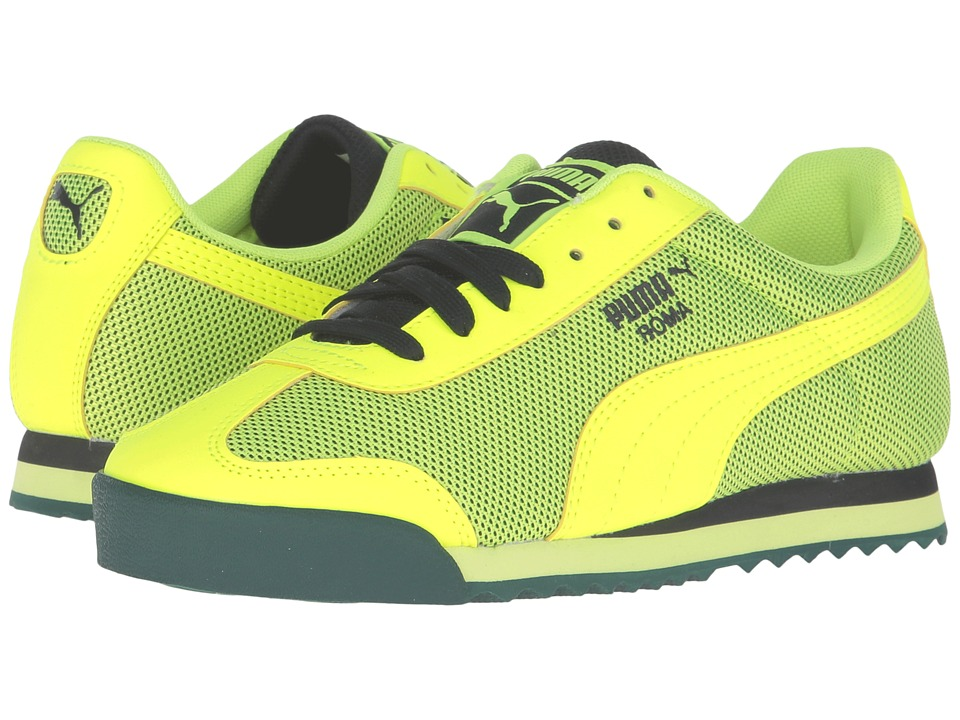 Puma Kids - Roma HM Jr (Big Kid) (Safety Yellow/Safety Yellow) Boys Shoes