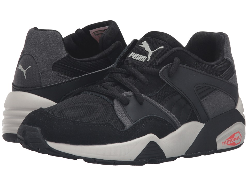 Puma Kids - Blaze Jr (Big Kid) (Puma Black/Asphalt) Boys Shoes