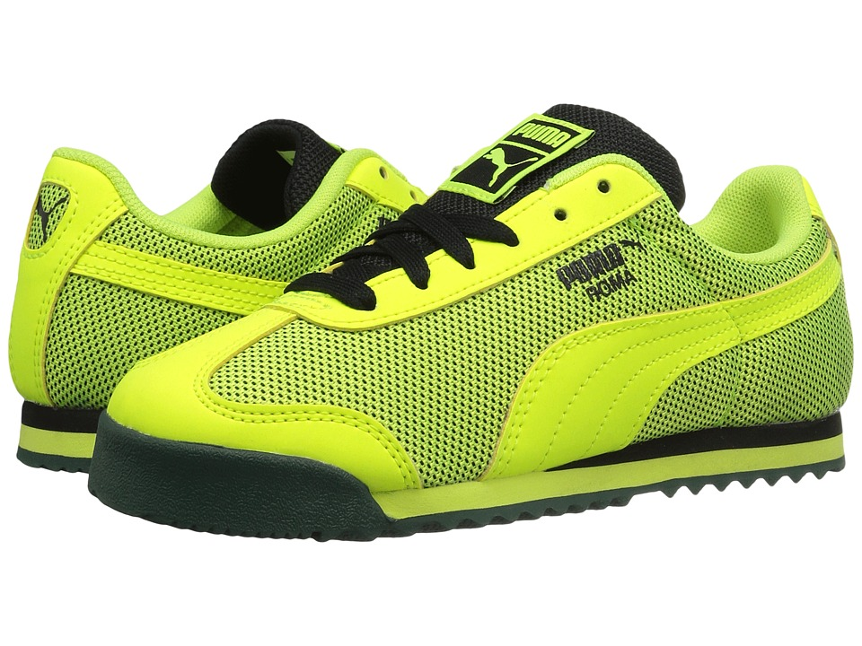 Puma Kids - Roma HM PS (Little Kid/Big Kid) (Safety Yellow/Safety Yellow) Boys Shoes