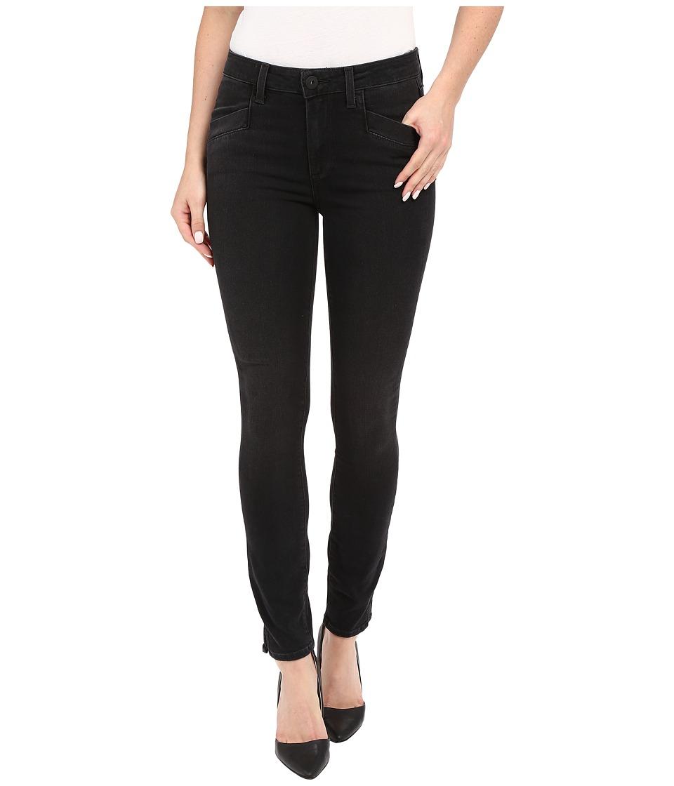 Paige - Roxxi Ankle w/ Side in Black Fog (Black Fog) Women's Jeans