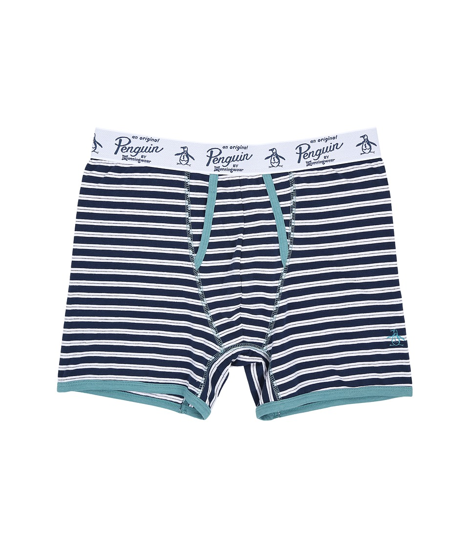 Original Penguin - Single Boxer Brief (Navy Stripe) Men's Underwear