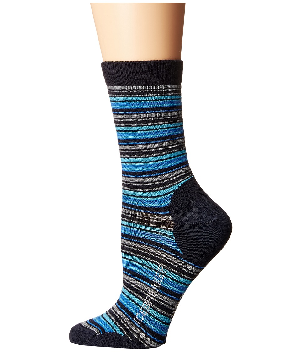 Icebreaker - Lifestyle Ultra Light 3Q Crew Stripe Tease 1-Pair Pack (Admiral/Pelorus/Glacier) Women's Crew Cut Socks Shoes