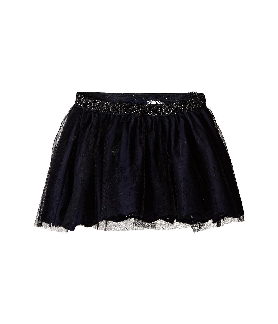 IKKS - Tulle Skirt Over Eyelet with Built-In Bloomers (Toddler/Little Kids/Big Kids) (Navy) Girl's Skirt