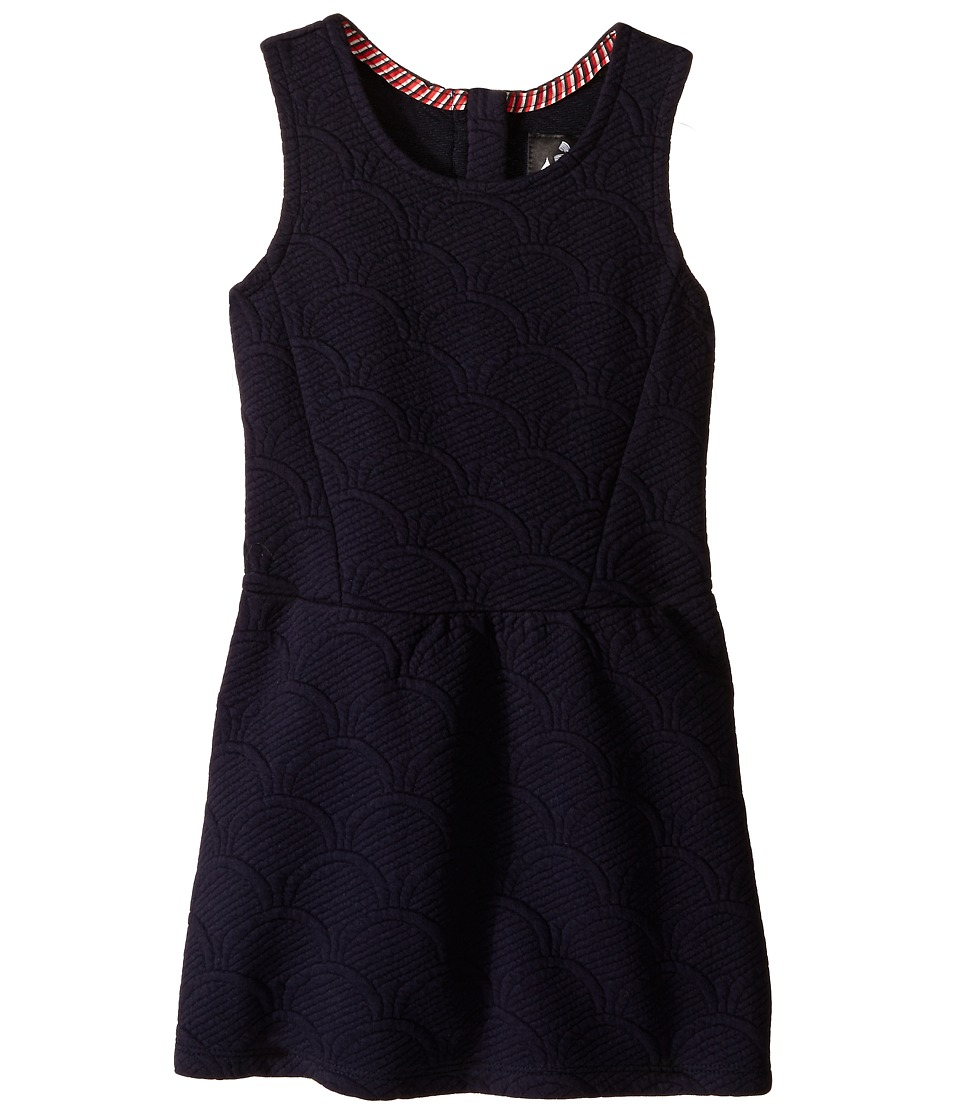 IKKS - Sleeveless Dress in Quilted Cotton w/ Sequin Stars (Little Kids/Big Kids) (Navy) Girl's Dress